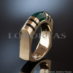 """Talisman of Time"" Emerald Men's Ring"