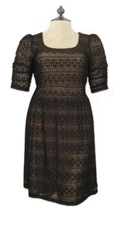 Black lace dress.