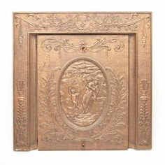 Neoclassical Style Gilt Metal Fireplace Cover 19th Century