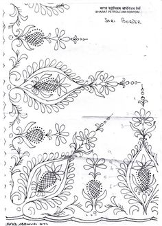 Jacobean Embroidery Patterns | Types of embroidery you can use it with: