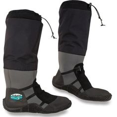 Kokatat Nomad Paddling Boots --- Go forth and paddle! The Kokatat Nomad paddling boots warm your feet with their comfortable neoprene, and protect your calves with their tough fabric