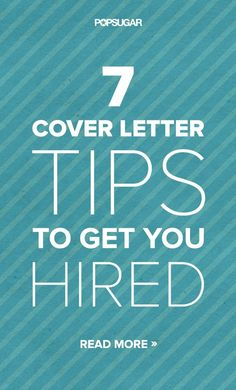 Catch a Recruiter's Eye With These 7 Cover Letter Tips - Nice tips!  I will be applying these ASAP