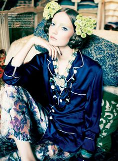 Nicole Bentley for Vogue Australia April 2011  Codie Young wears spring's most sumptuous eastern influenced fashions and has a taste for rich colors and luxurious materials courtesy of fashion editor Meg Gray in Orient Excess.