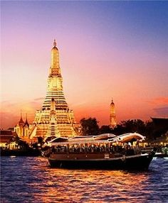 Sunset cruise, Bangkok, Thailand