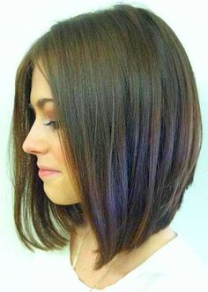 - glatter Longbob Haarschnitt - - straight longbob haircut -