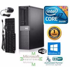 dell 790 desktop computer intel core i7 windows 10 pro 64 120gb ssd 34ghz 8gb