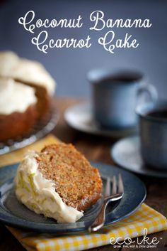 eco ike: Coconut banana carrot cake