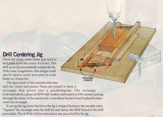 Drill Press Centering Jig - Drill Press Tips, Jigs and Fixtures | WoodArchivist.com