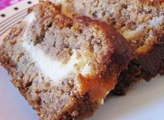 Aunt Lynda's Cream Cheese filled Banana Bread Recipe | Just A Pinch Recipes