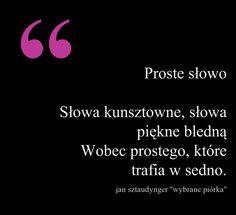 """Jan Sztaudynger """"Wybrane piórka""""  Moc prostego słowa trafiającego w sedno #proste #słowo #sedno #Sztaudynger"""