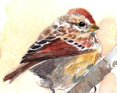 ACEO Limited Edition 1 out of 25  - Bird in fall