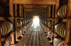 Bourbon aging at Buffalo Trace