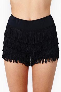 Let's Misbehave Fringe Shorts