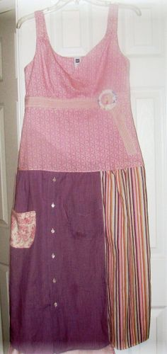 Summer Dress in shades of pink and purples / Small/ by UpCDooZ, $36.00