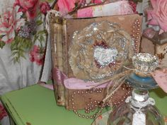 Shabby chic altered book art pieceFancy Love by AnitaSperoDesign, $175.00