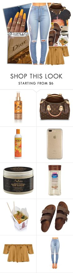 """""""« I gave you top of the line, I know you miss it baby »"""" by p-rojectbaby ❤ liked on Polyvore featuring Victoria's Secret, Cantu, Speck, SheaMoisture, Vaseline, Birkenstock and Boohoo"""