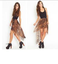 Short to Long Cheetah Skirt