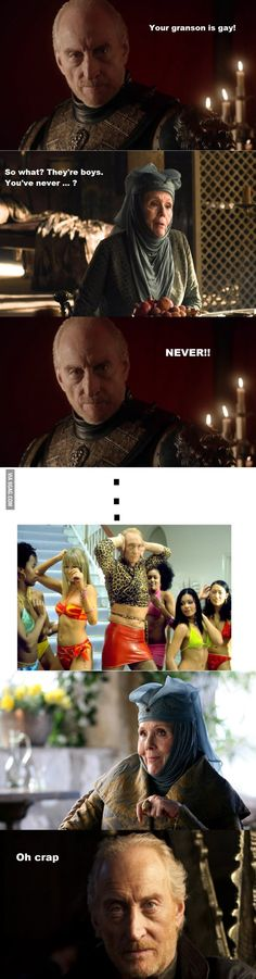Something you wanna tell us, Tywin? ;-) #gameofthrones #got