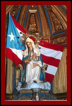 Puerto Rico Nuestra Señora de la Providencia Patrona de Puerto Rico localizada en la Catedral del Viejo San Juan