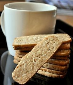 Crispy Almond Thins are slice and bake cookies, meaning that the dough is shaped and chilled, then sliced into uniform pieces before baking.