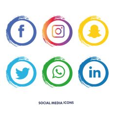 Social media icons set Vector and PNG Stickers Instagram, Facebook And Instagram Logo, Social Icons, Social Media Logos, Icon Set, Whatsapp Png, Vector Whatsapp, Snapchat Icon, Snapchat Logo