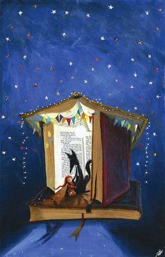 bibliolectors:  Los personajes literarios y yo os deseamos un muy Feliz 2016! / Literary characters and I wish you a Happy 2016! (ilustración de Paulo Galindro)