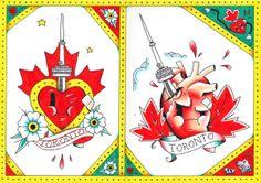 Toronto Love by Sylvester Boom tattoo