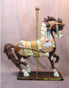 Vintage Wood Carousel Horse Pictures to pin on Pinterest