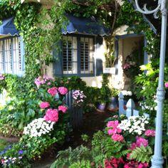 Beach cottage garden