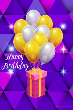 Happy birthday balloons and gift image. High quality happy birthday images to share with your loved ones. The post Happy birthday balloons and gift image appeared first on Birthday Wish Cards. Happy Birthday Cake Images, Happy Birthday Celebration, Cool Birthday Cards, Happy Birthday Friend, Best Birthday Wishes, Birthday Wishes Cards, Happy Birthday Balloons, Happy Birthday Messages, Happy Birthday Greetings