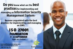 ISO 27001 Foundation. Training and Certification. Register online today.