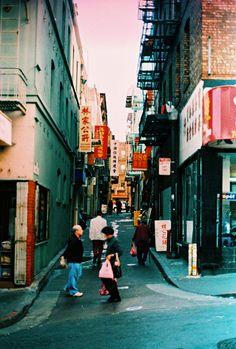 98¢ Chinatown SF - Canon AE-1/Kodak Elite Chrome/100 Iso/Color Slide Film/X-PRO - VIVA LA FILM!!!