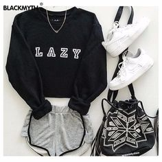 Cute Fashion Outfits for Teens worth Copying - Teenage Outfits, Teen Fashion Outfits, Mode Outfits, Short Outfits, Trendy Outfits, Summer Outfits, Teenage Clothing, Cute Lazy Day Outfits, Black Outfits