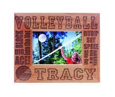 Wood Sports Frame - 3 1/2x5 - Volleyball $19.95