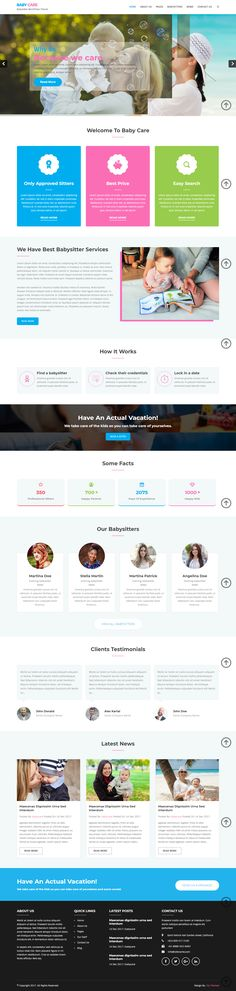 Babysitter WordPress theme specially designed for any business that provides in-home care solutions or for nanny services and some other similar businesses. Nanny Services, Premium Wordpress Themes, Web Development, The Good Place, Parenting, Vacation, Business, Design, Vacations