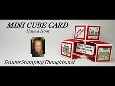 Two for Thursday ~ Mini Cube card video - Dawn's Stamping Thoughts Box Cards Tutorial, Card Tutorials, Fancy Fold Cards, Folded Cards, Pop Cubes, Dawns Stamping Thoughts, Pop Up Card Templates, Action Cards, Pop Up Box Cards