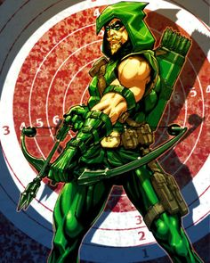 Green Arrow is an on-again-off-again member of the Justice League, because he prides himself on being an independent thinker. Like Green Arrow, you also think for yourself, and you rarely accept others' statements without satisfactory proof. Arte Dc Comics, Dc Comics Superheroes, Dc Comics Characters, Green Arrow, Dc Heroes, Comic Book Heroes, Comic Books Art, Comic Art, Book Art