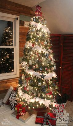 Feathered Nest Christmas Tree by @Pretty Handy Girl #JustAddMichaels