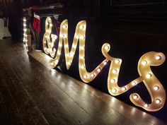 Mr & Mrs light bulbs at East Dene  #Lights #JustMarried www.eastdeneiow.co.uk
