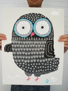 Pink Friday - Owl art