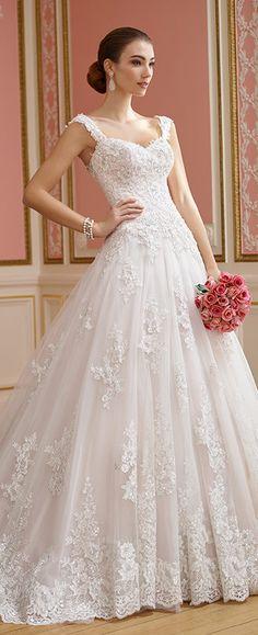 Featured Dress: David Tutera; Wedding dress idea.