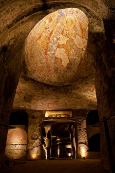 Catacombe di San Gennaro is still a fascinating site and is the burial place of many of the bishops of Naples from medieval times.