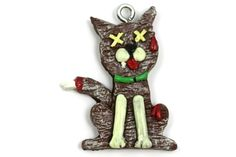 Gingerbread Zombie Cat   Christmas Ornament