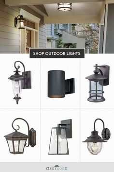Find outdoor wall lanterns, sconces and barn lights that match your budget & style at GreyDock! Free shipping on all orders $49. #outdoorlights #exteriorlighting
