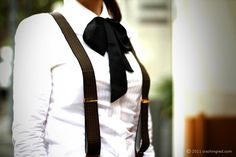 Boy meets girl outfit - bow tie and braces #fashion #shirt #cute