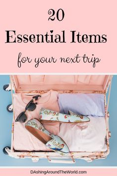 20 essential items to include on your vacation packing list. Includes packing, sleeping and daily travel essentials. Packing List For Vacation, Packing Tips For Travel, Travel Advice, Travel Essentials, Packing Lists, Travelling Tips, Travel Quotes, Travel Gadgets, Travel Hacks