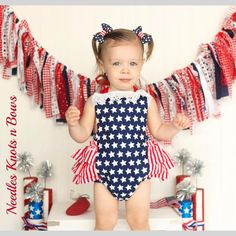 Girls of July Romper, Baby Girls Patriotic Outfit, Girls Independence Day Outfit, Red, White & Blue Romper Fourth Of July Shirts, 4th Of July Outfits, Boy Outfits, July 4th, All American Girl, American Girl Clothes, Girls 4, Baby Girls, Cake Smash Outfit Girl