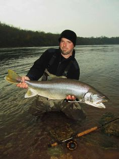 Steelhead Steve with a monster Lake Trout from last year - Housatonic River Outfitters
