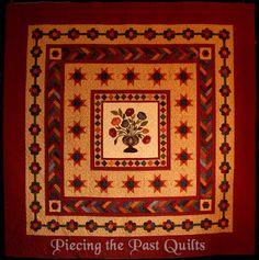March 2016 Rose Medallion BOW Quilt - Piecing the Past Quilts