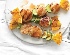Scallop, Orange and Cucumber Kebabs Recipe
